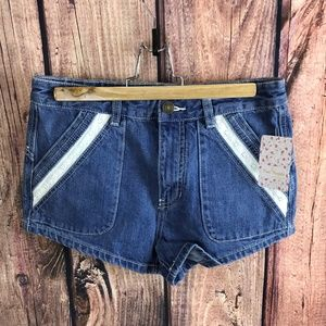 Free People Size 27 Festival Shorts Lace Detail